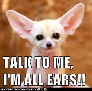 I am all ears